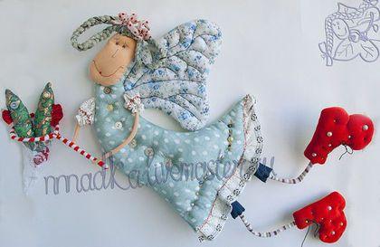 Сказочные персонажи ручной работы. Ярмарка Мастеров - ручная работа. Купить жена рыбака. Handmade. Подарок, кукла текстильная, ангел
