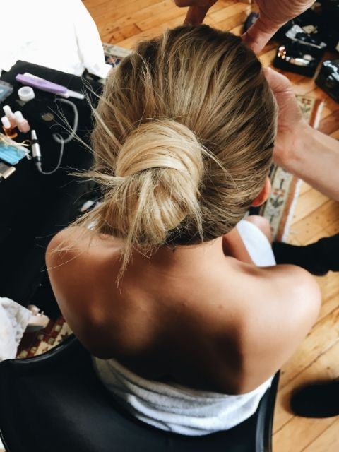 Getting ready for the Met Gala with Hailey Baldwin