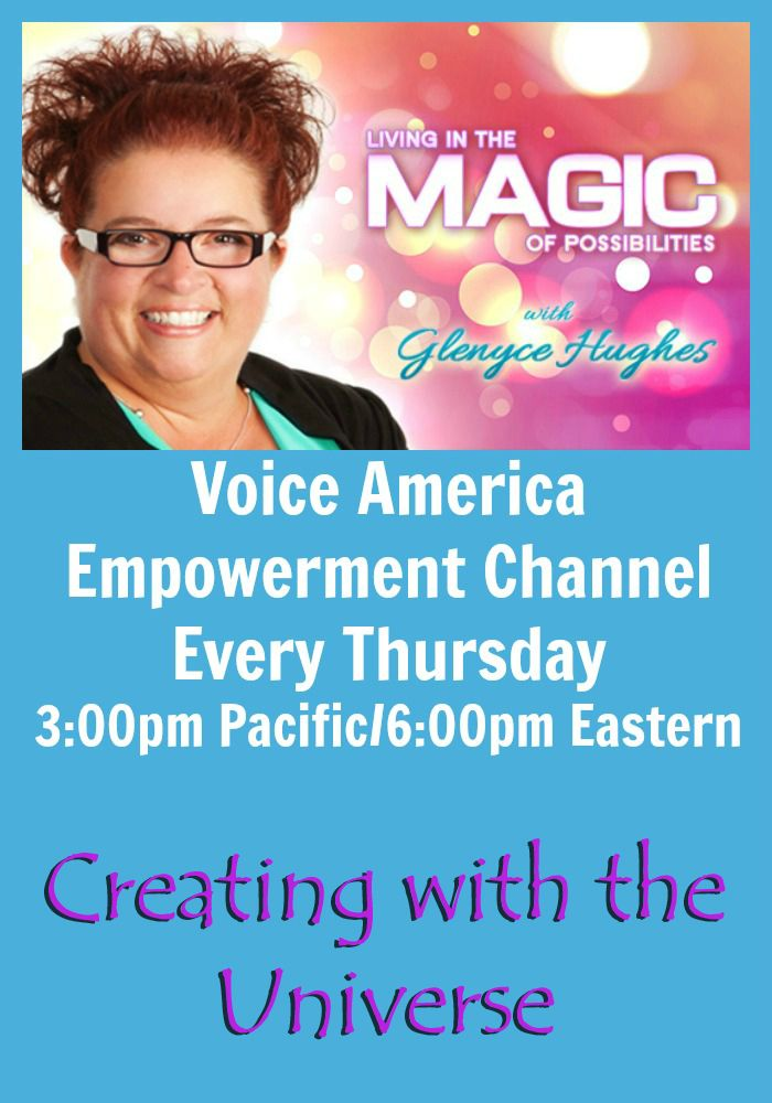 Creating with the Universe  You know more is possible. You have always known more is possible. Yet you experience set backs, trip up's and frustration more often than not. Are you ready to change that?  Listen here http://www.voiceamerica.com/episode/78521/creating-with-the-universe
