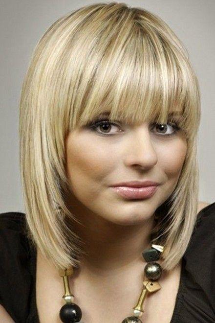 стрижка с челкой фото на средние волосы
