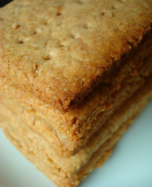 Close Up on Homemade Graham Crackers