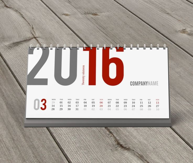 Desk Calendar 2016 Design Template KB20-W3 - view 3
