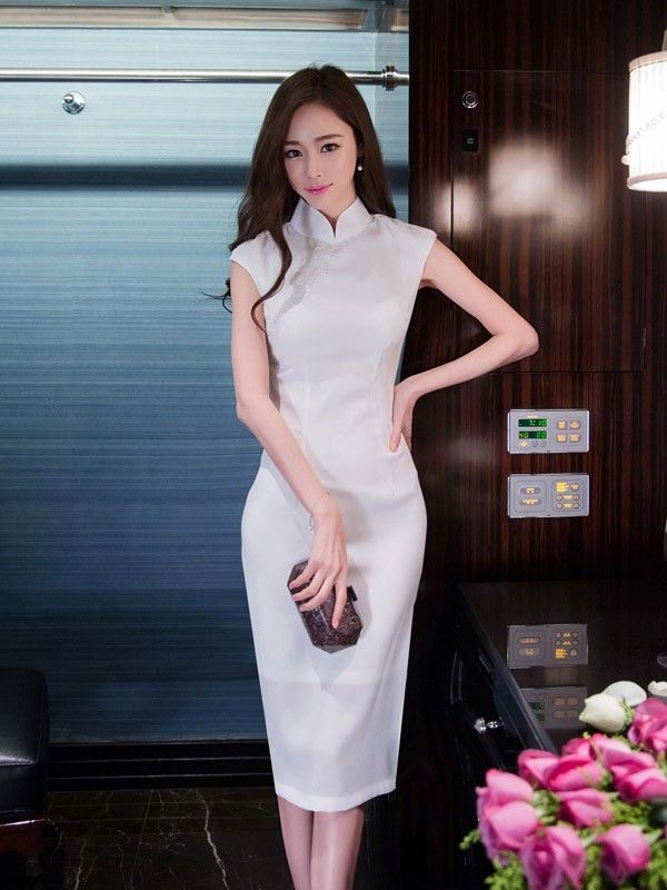 Midi Modern Qipao / Cheongsam Dress