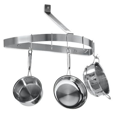 Hang pots and pans from the ceiling. | 27 Lifehacks For Your Tiny Kitchen