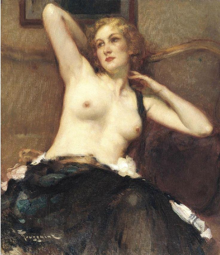 Fernand Toussaint (1873 - 1956) - Modèle au repos