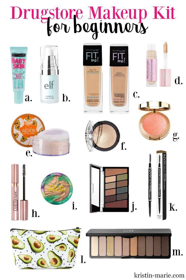 A Complete Drugstore Makeup Kit For Beginners Makeup Beauty Makeup Starter Kit Makeup Kit Best Drugstore Makeup