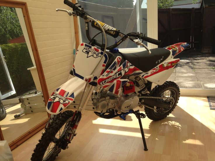 Standard CW bikes crf 70 style, 140f, with pro taper bar and UNI filter upgrades