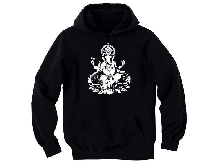 Yoga wear Hindu culture Ganesh Godess women/men/junior black hoodie by mycooltshirt on Etsy