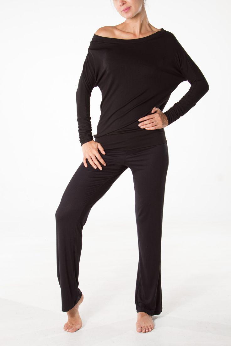 Basicpants and Bateau shirt viscose/spandex