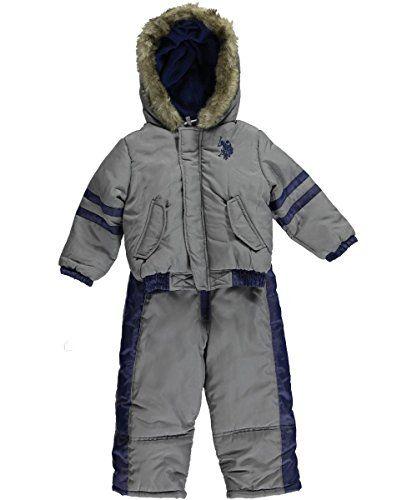 79fb10ca9702 U.S. Polo Association Little Boys  Toddler  Stripe Sleeve  2-Piece ...