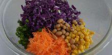 簡単お洒落なデパ地下サラダ☆紫キャベツと大豆のコールスロー | 今日のごはん、なあに?