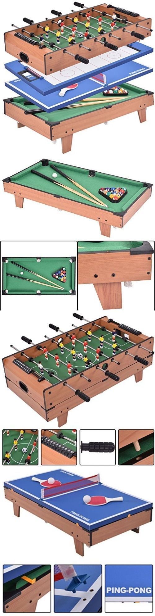 Tables 21213: Giantex 4 In 1 Multi Game Table Pool Air Hockey Foosball Table Tennis Billiard -> BUY IT NOW ONLY: $183.78 on eBay!