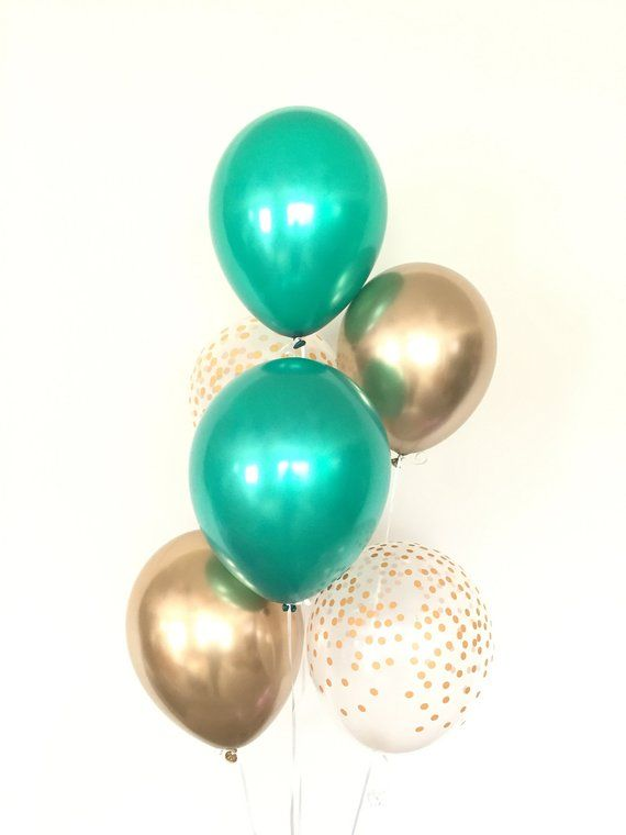 Green And Gold Balloons Emerald Green Balloons Green Birthday Party Decor Emerald Green Wedding Decor St Patrick S Day Balloons Gold Balloons Pearl Balloons Green Balloon