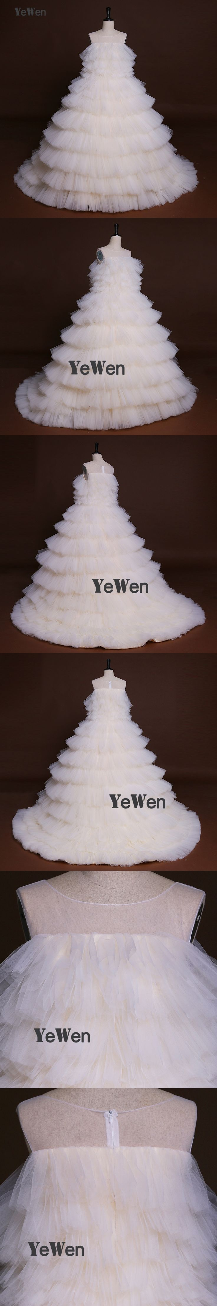 Ice Cream Color Tulle Elegant Ball gown Evening Dress 2017 Long Zipper YeWen Tiered Ruched Party Prom gown Formal dresses