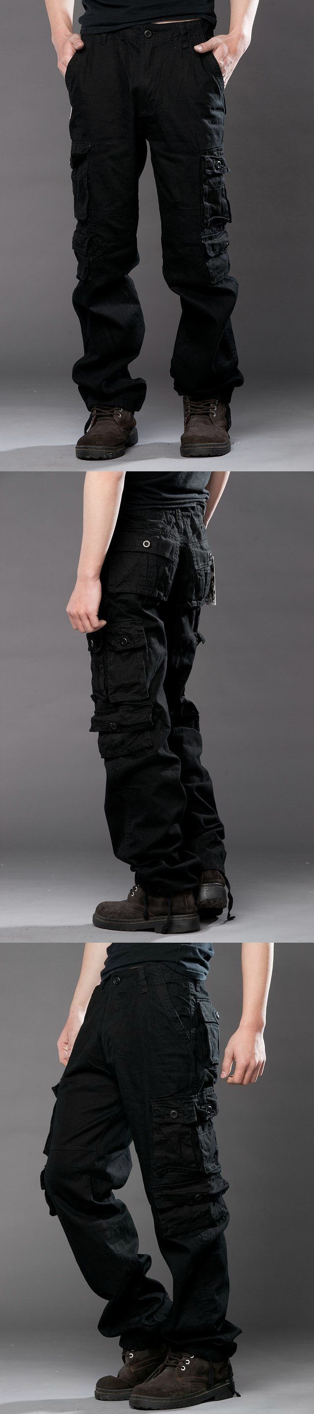 2018 New Men's Tactical Pants Military Man Men Camouflage Cargo Pants Male Overalls Casual Trousers Black Plus Large Size 38 hot