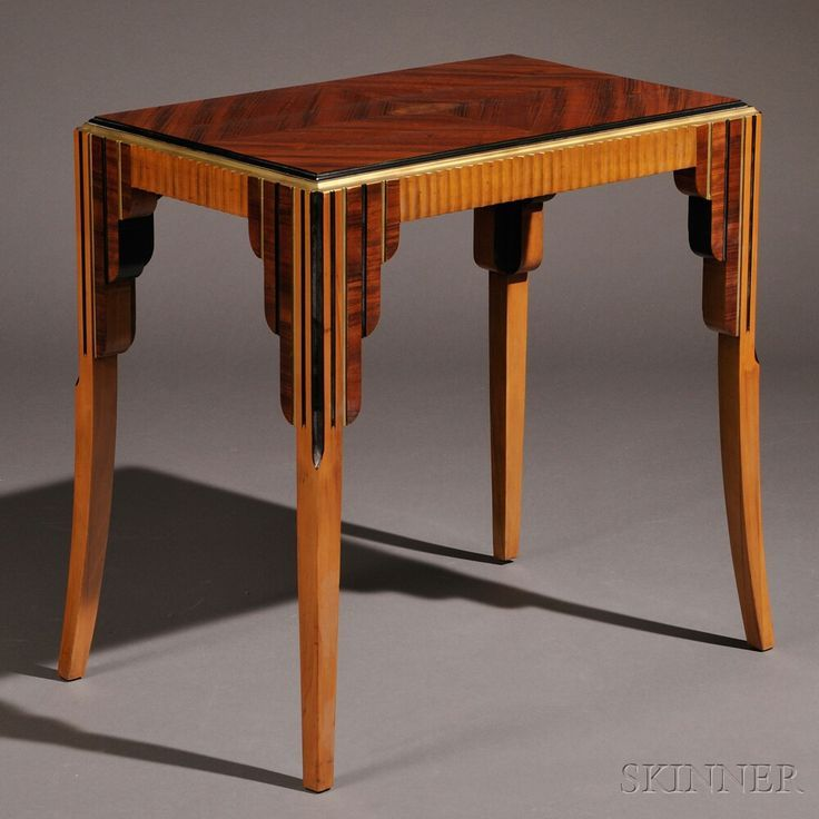 Art Deco Occasional Table Veneered And Painted Woods Europe, C.