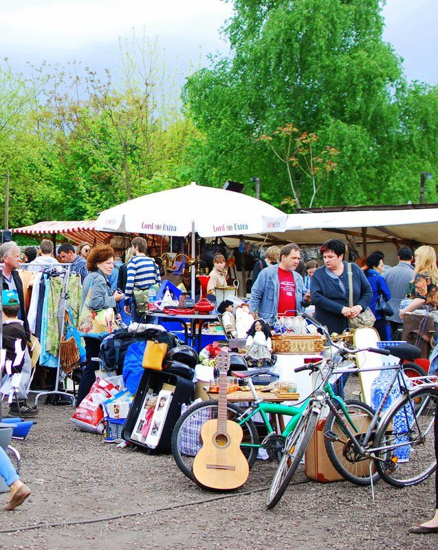 Free Berlin - Chaos at Mauerpark Flea Market More information on #Berlin: visitBerlin.com