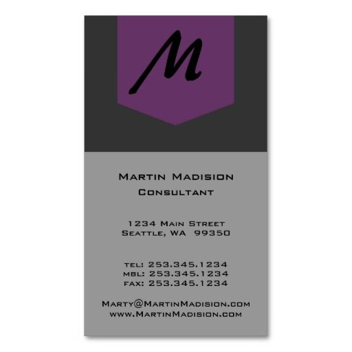 62 best business cards make it yourself images on pinterest minimalist monogram consultant business cards sleek and simple design sometime all the of the cluttered fad styles get in the way of what youre solutioingenieria Gallery