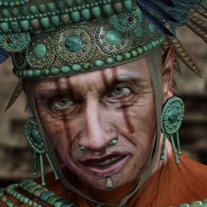"""Aztec Priest  Inspired by Mel Gibson's movie """"Apocalypto"""", this Aztec Priest is detailed, imaginative and original."""