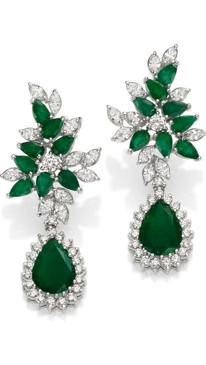 emerald diamond and 18k white gold earrings gemstone. Black Bedroom Furniture Sets. Home Design Ideas