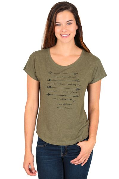NOTW, Seek The Lord, Dolman Short Sleeve T-shirt, Military Green