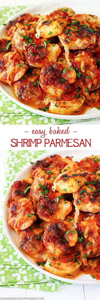 Easy Baked Spicy Shrimp Parmesan