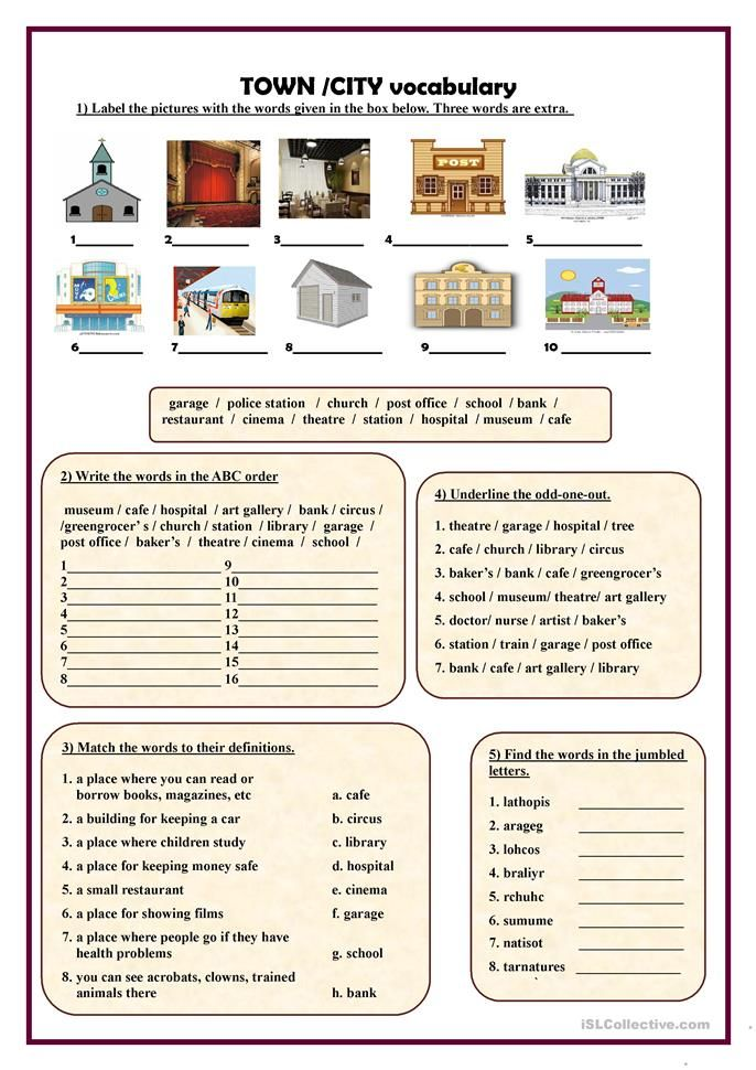 Town City Vocabulary English Esl Worksheets For Distance Learning And Physical Classrooms Vocabulary Worksheets Vocabulary English Vocabulary Places of city worksheet