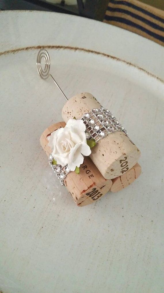 Wine Cork Place Card Table Number And Name Holders Vineyard Wedding