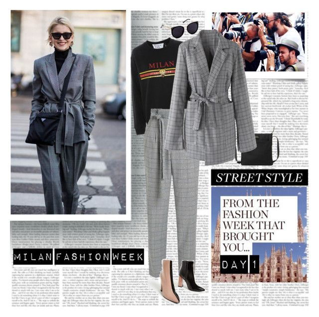 """Milan Fashion Week Street Style Day 1"" by stylepersonal ❤ liked on Polyvore featuring MANGO, Topshop, Miss Selfridge, Lauren Ralph Lauren, Chicwish, StreetStyle, fashionWeek and mfw"