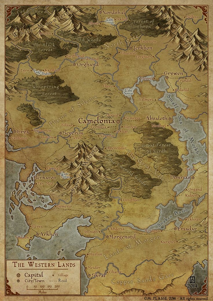 A small regional fantasy map commission done