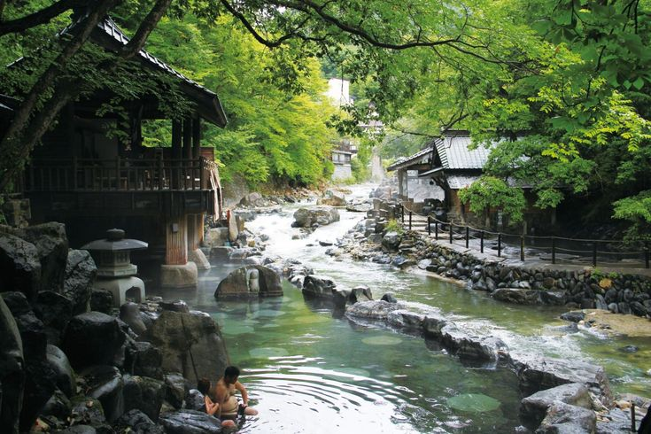 Minakami-onsen Hot Spring, located in the northern part of Gunma, Japan
