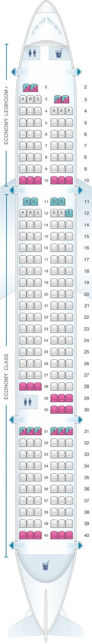 Seat Map Allegiant Air Boeing B757 200