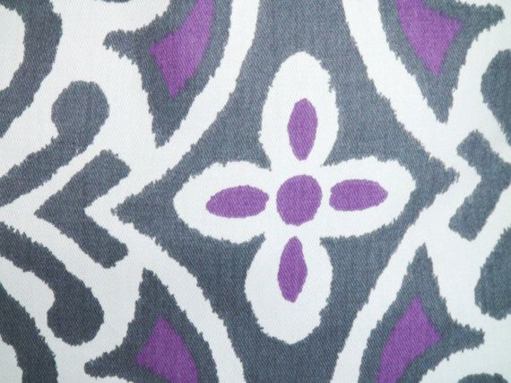 Purple throw pillows Purple pillow cover Grey toss by PillowCorner