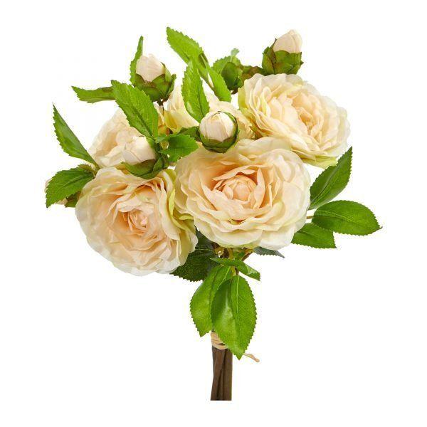 11 H Faux Peach Camellia Bouquet Set Of 4 Artificial Flower Bouquet Artificial Flowers Camellia Flower