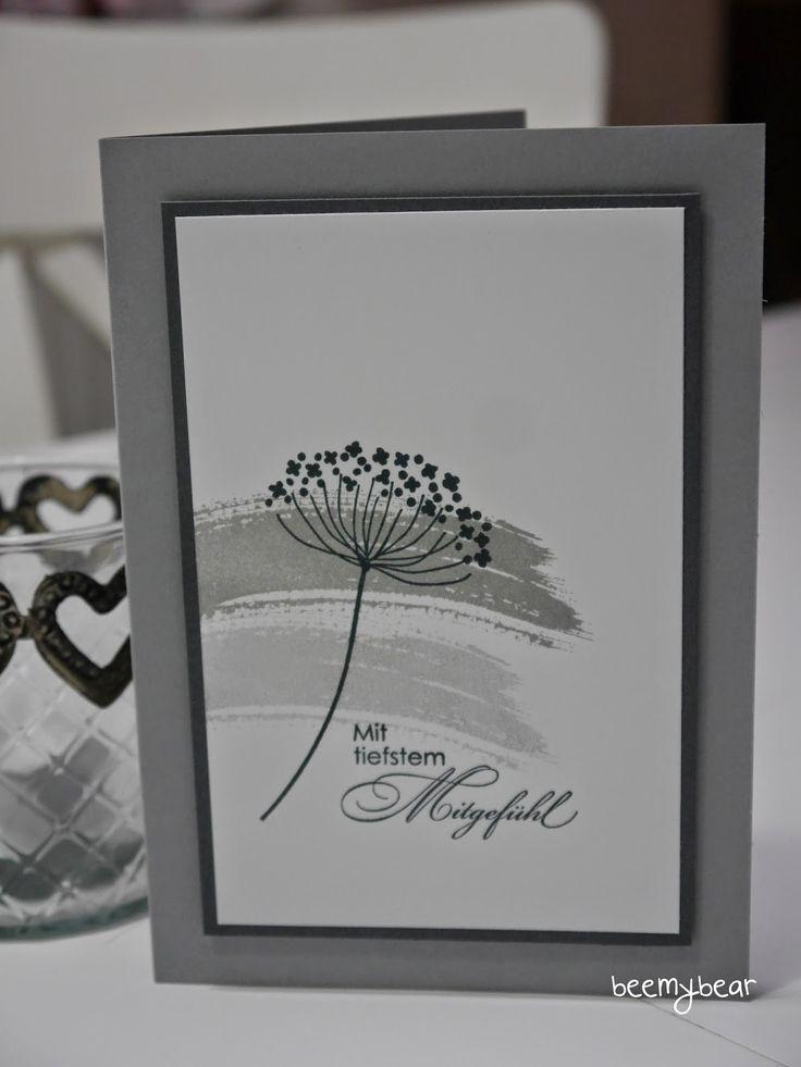stampin with beemybear: Trauerkarte, Work of Art, Summer Silhouttes, Mit tiefstem Mitgefühl