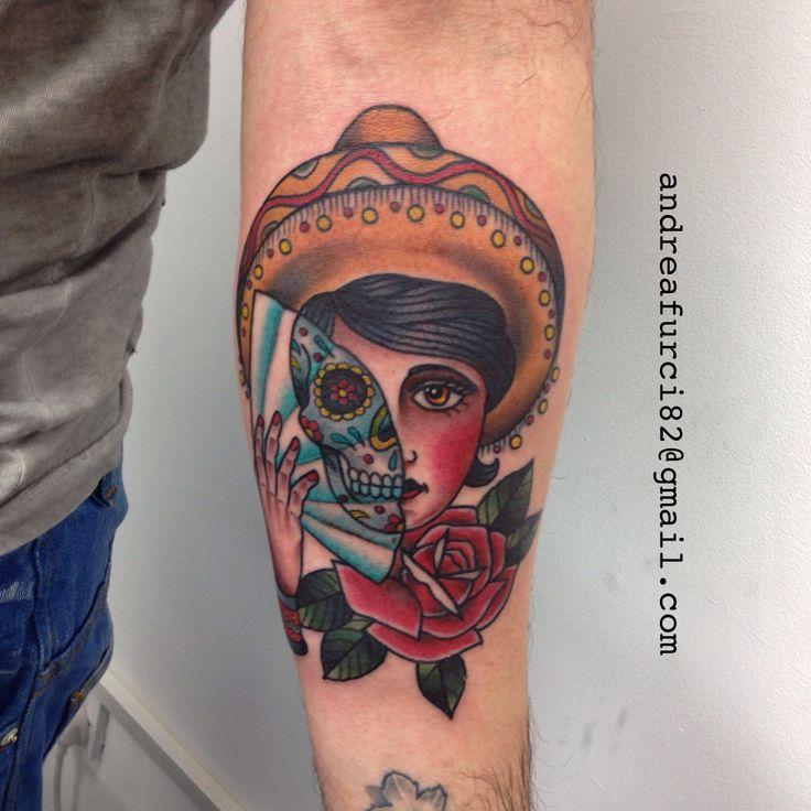 Gypsy/sugar skull | Tattoos | Pinterest  Gypsy/sugar sku...