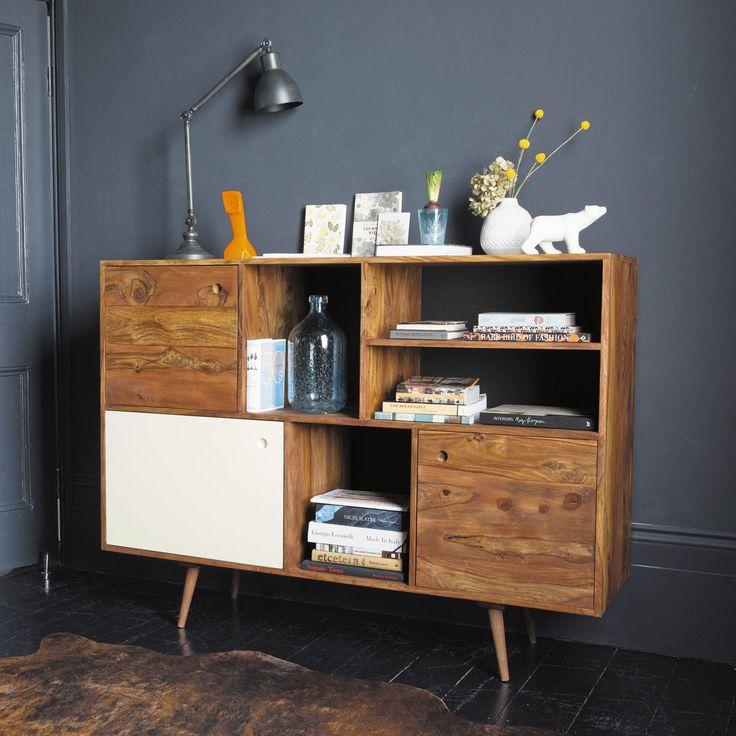 Sheesham-houten vintage dressoir B 145 cm ANDERSEN