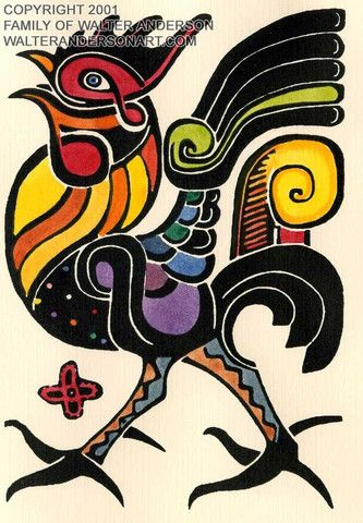 Rococco Rooster – Realizations: The Walter Anderson Shop