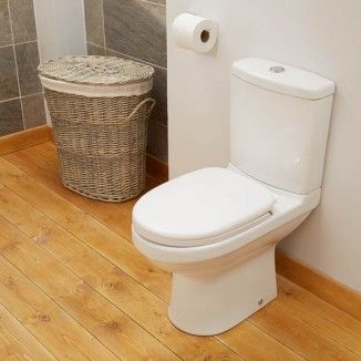 This stylish toilet is a close coupled design and comes complete with a soft close toilet seat and is available at an unbeatable price. This toilet can be paired with it's matching basin available with your choice of one or two pre-drilled tap holes.