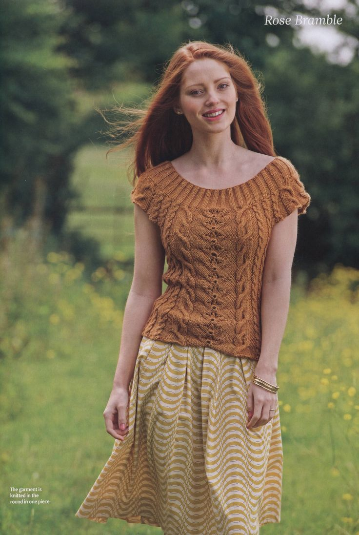 60 best images on pinterest knit crochet free knitting pattern brown pullover with short sleeves beautifully shaped top knitted in a merino silk yarn bankloansurffo Images