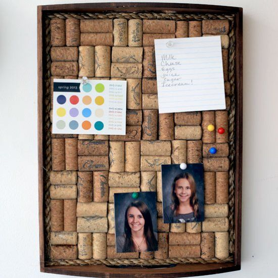 Make a wine cork corkboard that s one of a kind and for Making a cork board from wine corks