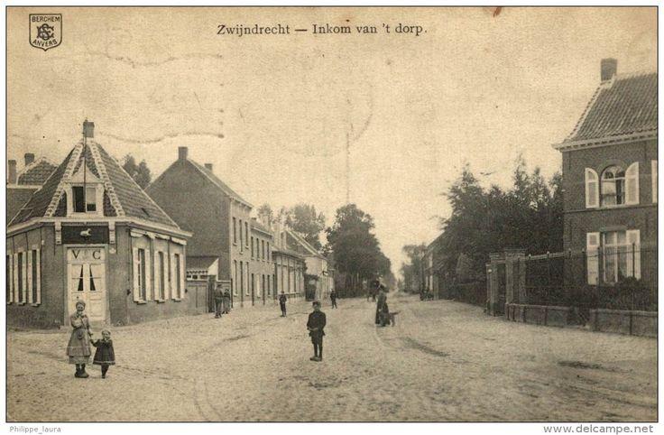 UNIQUE  1914  ZWIJNDRECHT ANTWERPEN INKOM VAN HET DORP