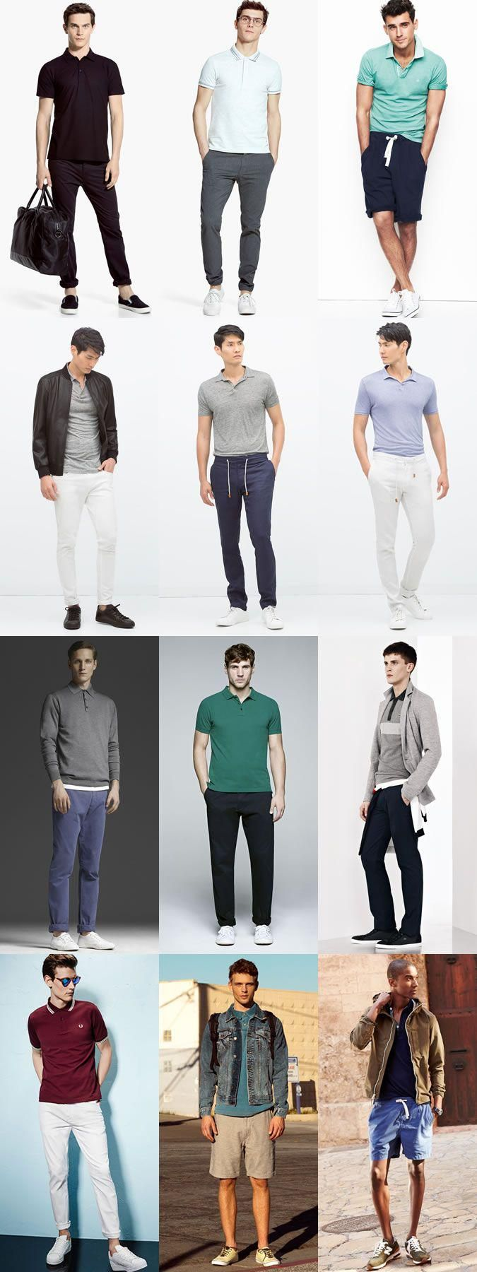 Men's Sports-Inspired Polo Shirt Outfit Inspiration Lookbook