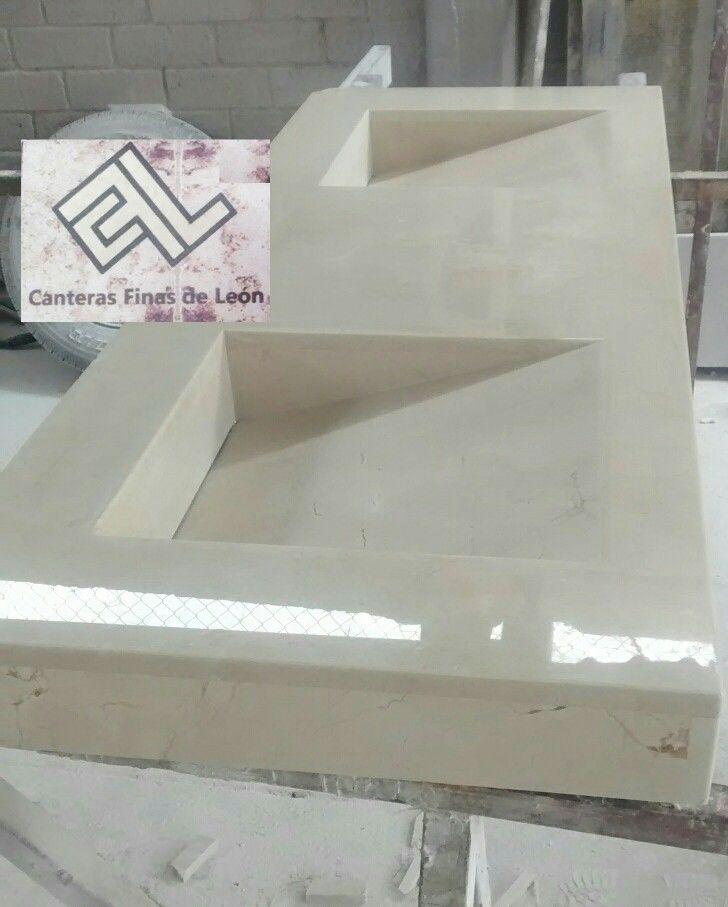 Lavabo marmol crema marfil marmol y granito pinterest for Lavabo marmol
