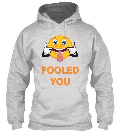 April Fools Day Ash Grey Sweater Lengan Panjang Front