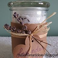DIY Scented Bath Salts- very easy and inexpensive gift idea...»