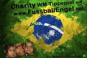 """CHARITY FUSSBALL WM TIPPSPIEL   2014 in Brasilien  Das Charity 'WM 2014 Tippspiel' unterstützt den Ausbau der KiTa  """"Gente Valente"""" im  dürren Nordosten Brasiliens (Sobradinho, Bahia). Dort werden 160 Kinder versorgt, insbesondere von alleinstehenden Frauen.    Die Idee 10,- Euro Spenden   Tippen   Gewinnen  http://www.fussballengel.net"""