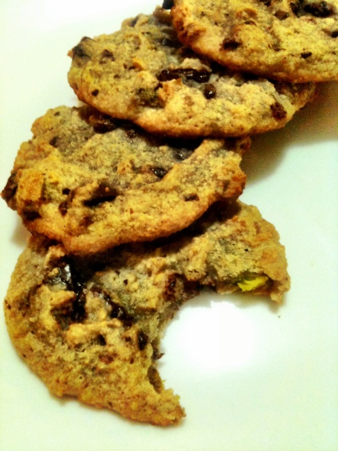 Dark Chocolate Chip Pistachio Cookies | The Cavery