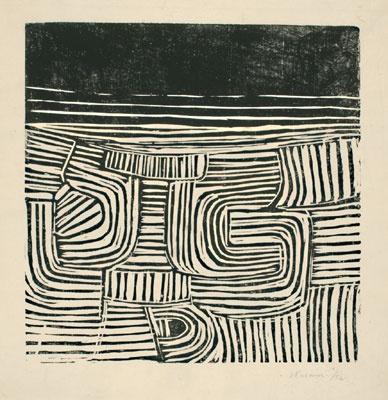 Spiral Motif 1952 by Victor Pasmore, 1908-1998