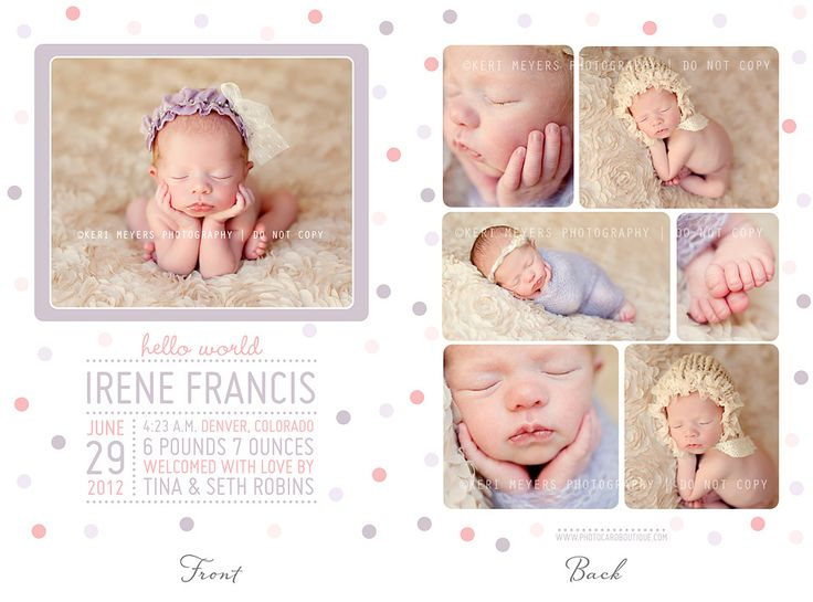 17 Best images about Birth Announcement Templates from KMP on ...